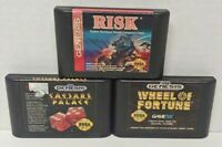 Caesars Palace, Risk, Wheel of Fortune - Sega Genesis Working 3 Game Lot Games