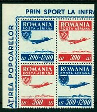 1946 Aviation,Airplane Lockheed ELECTRA Junior,OSP,Romania,1005,Tete-beche/2,MNH