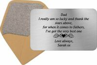 Personalised Dad Daddy Keepsake Card Wallet Birthday Gift Xmas Fathers Day
