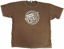 JOHNNY CASH Stamp T-shirt Man In Black Country Rock Tee Adult XXL 2XL Brown New