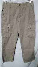 """Outdoor Life Olive Green Pants Mens  Cotton  ACTUAL MEASURE 37"""" X 29"""