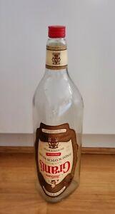 LARGE VINTAGE  Grants Finest Whiskey BOTTLE, 4.5 LITRE/8pt, MONEY/COIN LIGHTS
