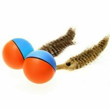 Beaver Weasel Rolling Motor Ball Pet Cat Dog Kids Chaser Jumping Moving Toy O9G1