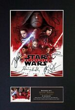 More details for #719 star wars the last jedi reproduction autograph mounted signed photograph a4