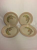 Corelle Corning Salad Plates Sandstone Pink Peach Yellow floral set 4