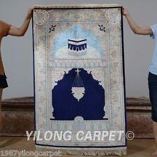 Yilong 3'x4.5' Handmade Silk Area Rugs Hand Knotted Classic  Prayer Carpets 0031