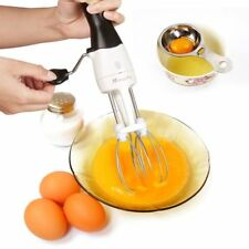 "Mixer Egg Beater Stainless Steel 12"" Egg Beater Hand Crank & Egg Separator"