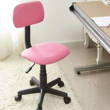 Sedia Poltrona da Ufficio Casa Cameretta con Ruote in Tessuto Colore Rosa