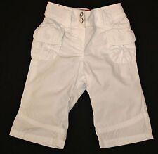 Mädchen-, Babyhose dünnere Hose in weiß uni mit kleinen Taschen Größe 62