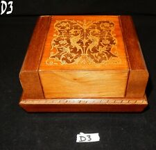Vintage Sorrento Ware Musical Cigarette Box Inlaid with Birds Flowers