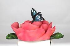 Flottant Fleur Rose avec un papillon, un joli bassin ou aquarium Ornement & Cadeau