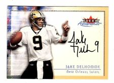 JAKE DELHOMME NFL 2000 FLEER TRADITION AUTOGRAPHIC (SAINTS,PANTHERS,BROWNS,