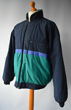 Mens Navy Blue & Green, Vintage Nick Faldo Pringle Deportes Reversible Chaqueta Sz M