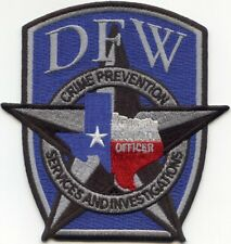 DALLAS - FORT WORTH TEXAS TX CRIME PREVENTION SECURITY police PATCH