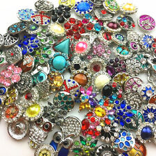 20pcs Lots Snap button 18MM Mixed Ginger Snap Chunk Button For Noosa Bracelet