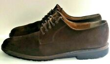Salvatore Ferragamo Vintage Leather Florence Italy Brown Suede Shoes 11.5 B