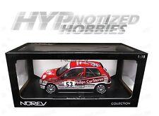 NOREV 1:18 1991 RENAULT CLIO 16S RACING TOUR DE CORSE DIE-CAST RED 185233