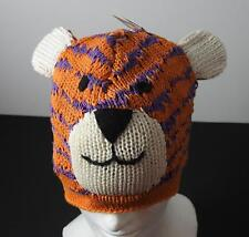 Knitwits Handmade Cotton Tiger Animal Beanie Hat Kids/Toddler (Age 3-6) GY28