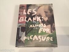 NEW Les Blank: Always for Pleasure (Blu-ray, 3-disc, 2014) Criterion Collection