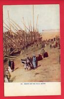 EGYPT BOATS ON THE NILE VINTAGE POSTCARD