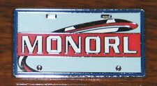 "Disney ""Monorl"" License Plate Shaped Official Trading Pin 2010 (Lapel / Hat Pin)"