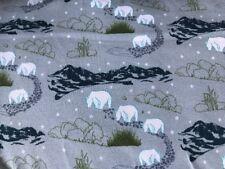 25 cm Jersey Kimi Berge Eisbär Sterne Auf Grau Kinderstoff