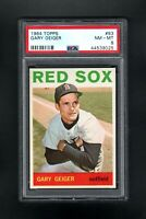 1964 TOPPS #93 GARY GEIGER BOSTON RED SOX PSA 8 NM/MT++CENTERED!