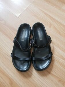 Pedro Garcia Leather Slip On Sandals Size 36
