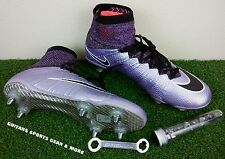 Nike Mercurial Superfly SG Soccer Cleats 641859 581 Urban Lilac/Mango Men's 8.5