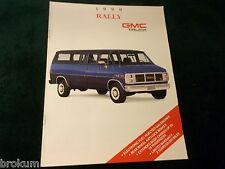 MINT 1990 GMC TRUCK RALLY VAN 8 PAGE SALES BROCHURE NEW ORIGINAL  (BOX 369)