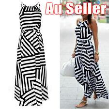 Chiffon Long Stripes Dresses for Women