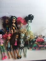 Monster High Lot 9 Dolls Clothes Shoes Accessories C1