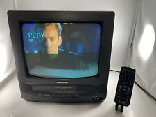 """Sharp 13"""" CRT Television TV/VCR Combo 13VT-K100 CRT WITH REMOTE TESTED"""