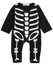Skeleton Baby Toddler Costume Romper Halloween Jumpsuit Boys Fancy Dress Outfit