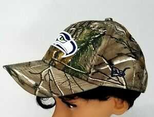 Seattle Seahawks NFL football hat baseball cap camouflage green woods hunting