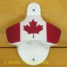 Canadian Flag Starr X Wall Mount Bottle Opener, White Powder Coated Canada NEW!!