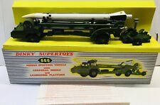 DINKY TOYS 666 MISSILE ERECTOR VEHICLE & CORPORAL MISSILE. NEAR MINT WITH BOX