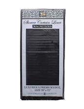 Shower Curtain Liner Black Mildew Resistant Vinyl Magnetized