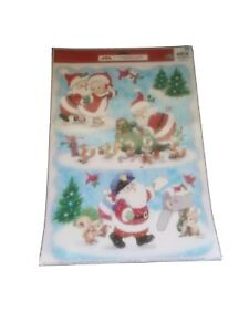 Holiday Time Christmas Winter Window Clings Santa Letters Seasonal Decorations
