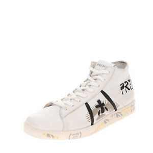 RRP €210 PREMIATA Leather Sneakers Size 42 UK 8 US 9 Printed Panel Logo Patched
