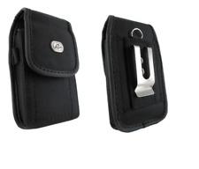 Rugged Canvas Case Pouch Holster w Belt Clip for ATT Pantech Breeze 4 IV, C150