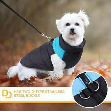 Imperméable noir et bleu pour petit chien * Taille XS *  Comme Neuf