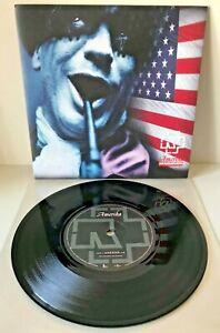 "RAMMSTEIN - AMERIKA RARE 7"" VINYL SINGLE 2004 9868673 MCS40394 REISE AMERICA"