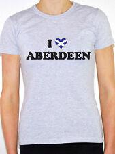 I LOVE ABERDEEN - Scotland / Scottish / British / Novelty Themed Womens T-Shirt