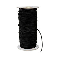 Black 2mm dia. Elastic Cord 70+ Yard Bulk Spool crafts beading