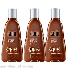 ( 21,76€/ L) 3x 250ml Guhl Color Brillo Marrón Champú kukuinuss ACEITE