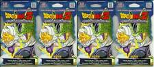 (4) 2016 Panini DragonBall Z Awakening New Sealed Blister Booster Pack LOT