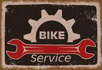 Bike Service Blechschild Schild gewölbt Metal Tin Sign 20 x 30 cm FA1167