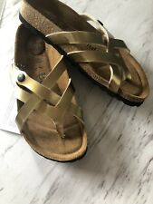 Birkenstocks Betula Sandals Vinja Gold Size 36
