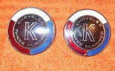 1964 Chrysler 300 K Hardtop Convertible ORIG THREE HUNDRED K EMBLEMS MEDALLIONS